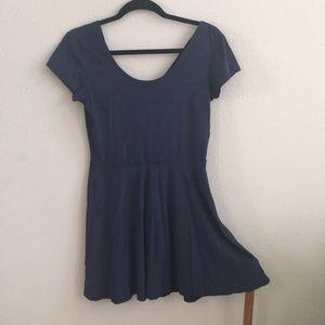 Suede velvet dress